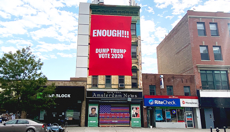 "New PFAW ""ENOUGH of Trump"" Art Installation in NYC"