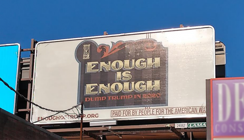 Image for PFAW's ENOUGH of Trump Billboards are Going Up in a Swing State Near You!