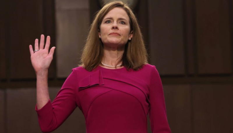 Image for Amy Coney Barrett Can Evade Questions But Can't Evade Her Record on ACA and Roe