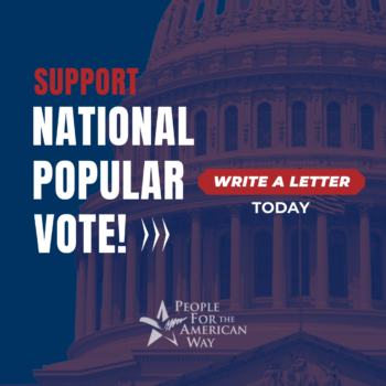 National Popular Vote - write a letter, IG
