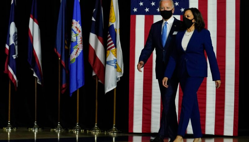 Image for Biden and Harris Flex Their Muscles on Their First Day in Office