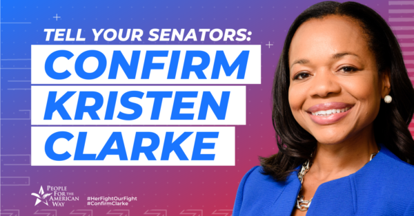 Tell the Senate to Confirm Kristen Clarke!