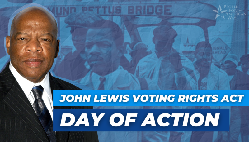 Image for People For Members Join Day of Action to Pass the John Lewis Voting Rights Act