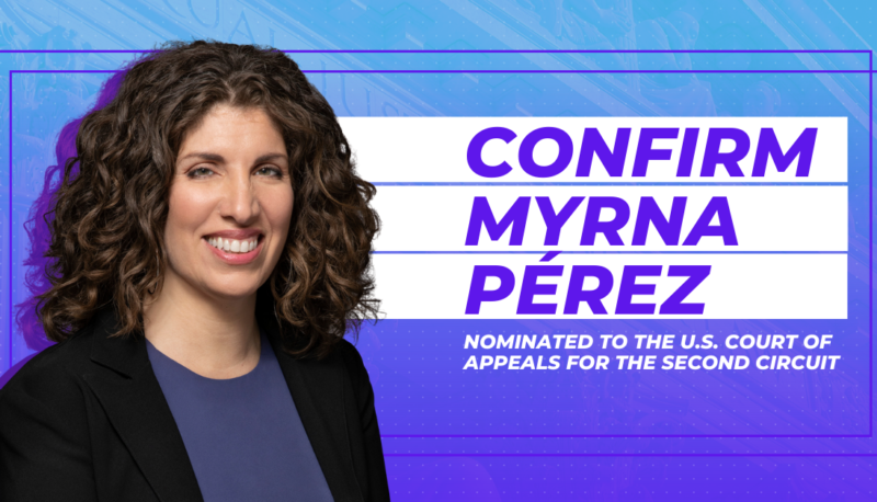Image for Myrna Pérez Will Protect Our Right to Vote, Exactly As Judges Are Supposed To