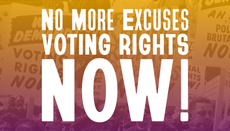 Image for No More Excuses: Activists Rally to Urge President Biden to Take Action on Voting Rights!