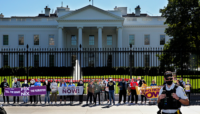 Image forLifting Up Our Voices for Voting Rights: People For, Clergy, and Alyssa Milano Protest at White House