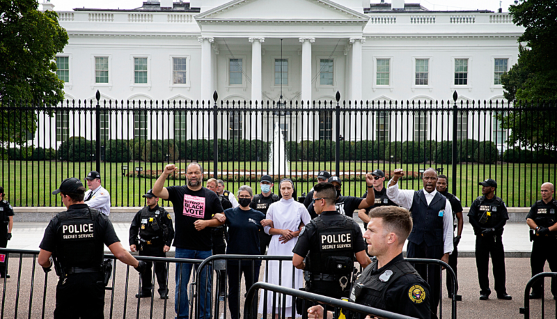 Image for We're Fighting For Democracy: People For and Partners Demonstrate at White House